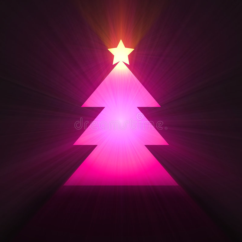 Download Christmas Tree Glowing Light Flare Stock Illustration - Image: 3648936
