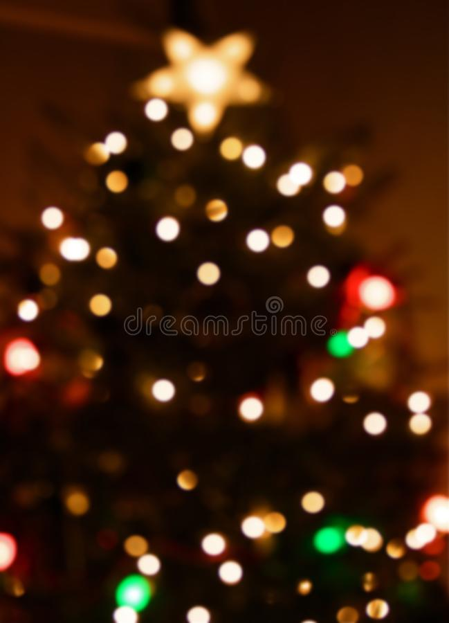 Christmas Tree and Star Topper stock photography