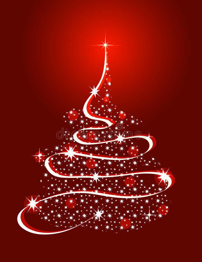 Christmas Tree with Stars vector illustration