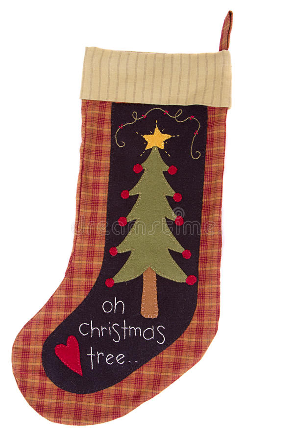 Christmas tree Stocking stock photo