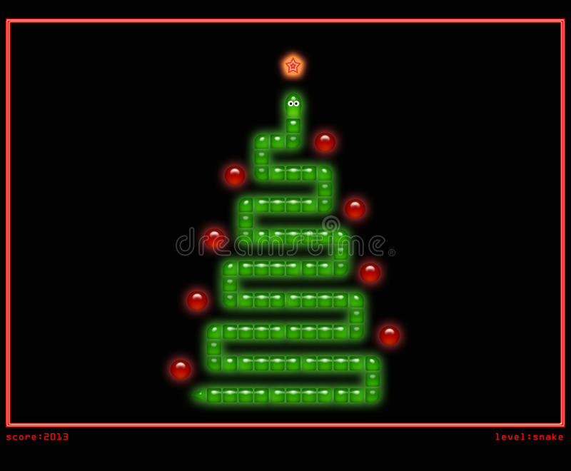 download christmas tree in style of snake game royalty free stock image image 27938846 - Christmas Tree Game
