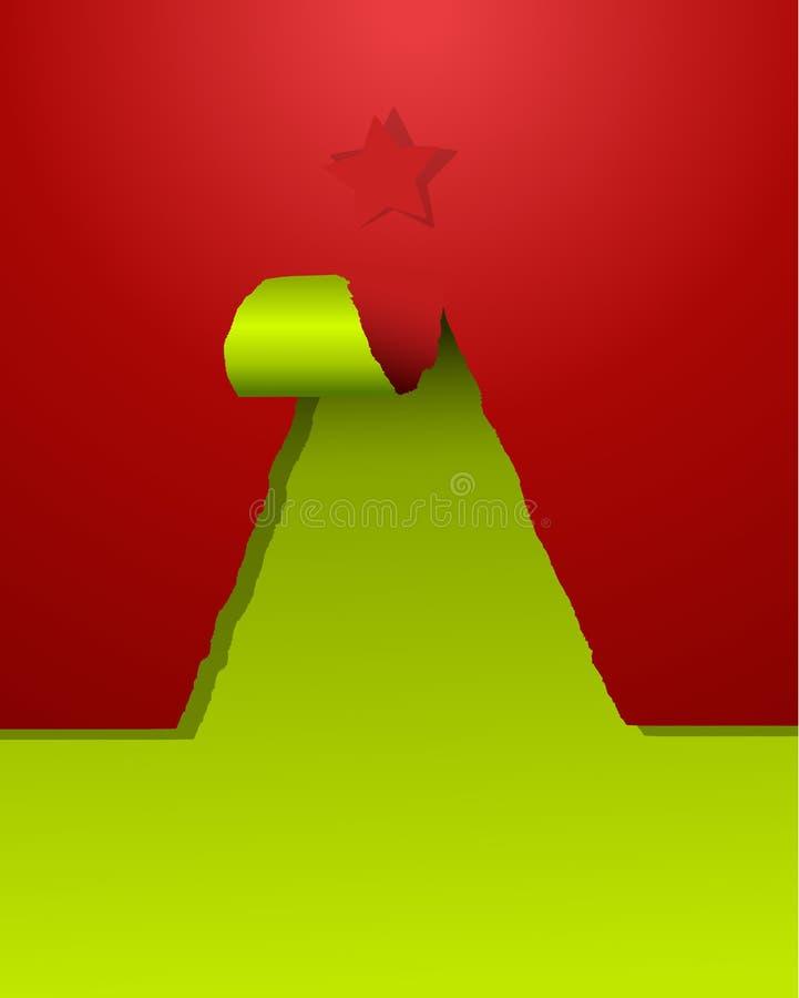 Download Christmas Tree Of Teared Paper Stock Illustration - Illustration: 22384261