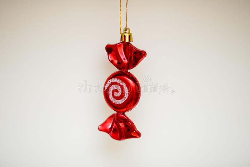 Christmas tree toy as a festive decoration royalty free stock image