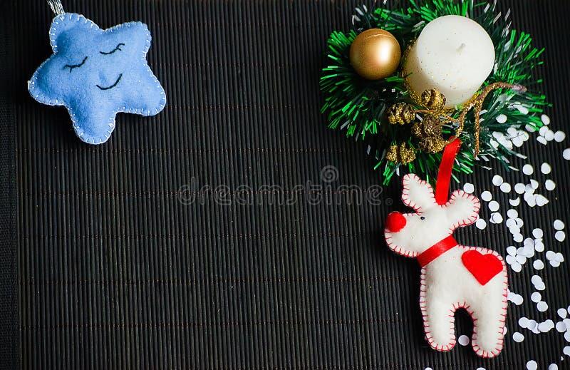 Christmas tree with toys stock photo