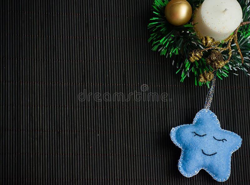 Christmas tree with toys stock photos