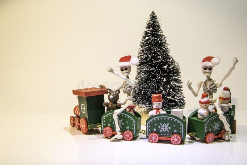 Christmas Tree Train stock photography