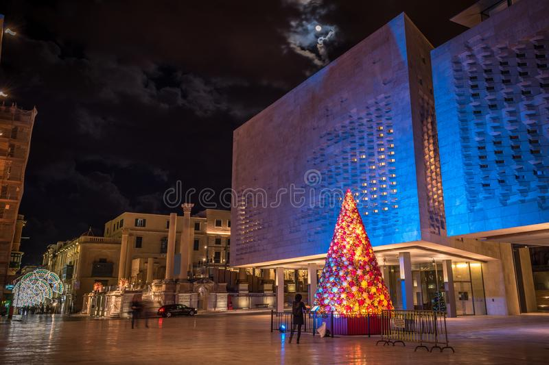 Christmas Tree in Valletta stock photos