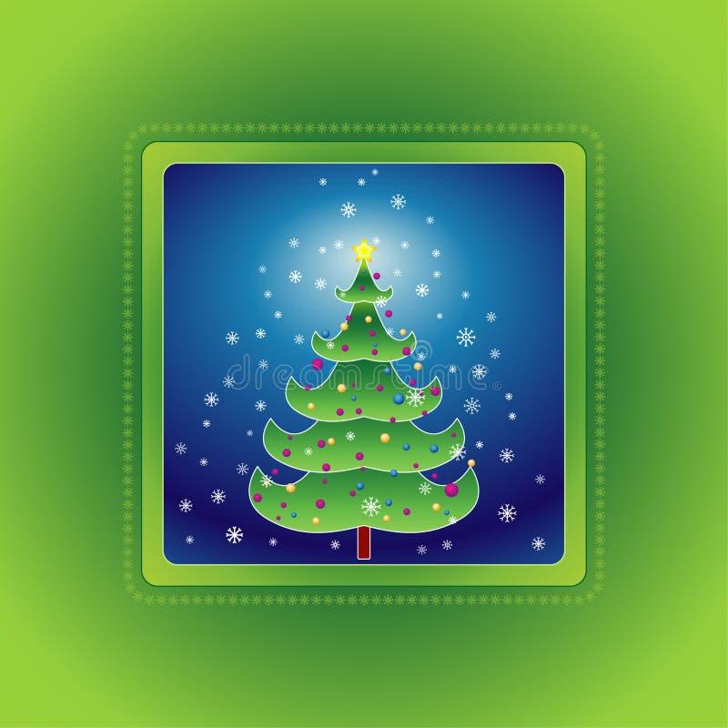 Christmas tree, vector stock illustration