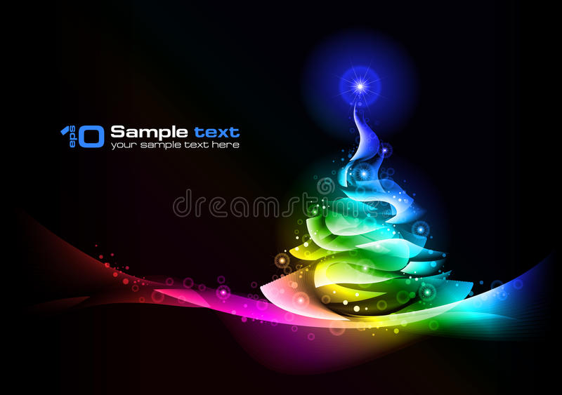Christmas Tree. Vector Abstract Design. Stock Photography