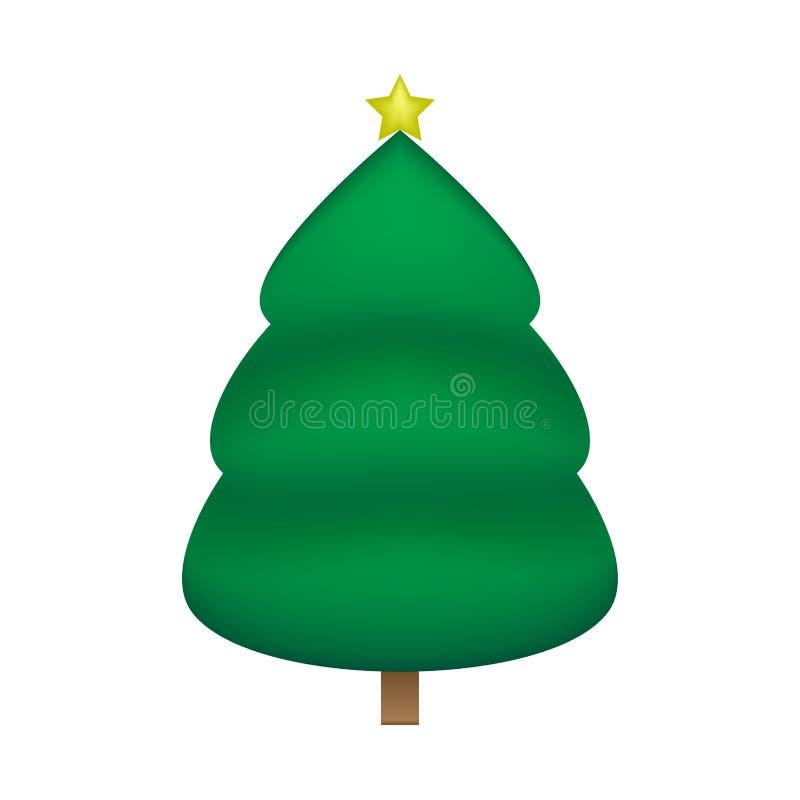 Christmas tree vector design stock illustration
