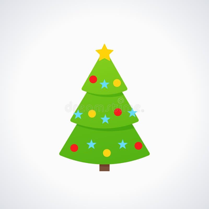 Christmas Tree Vector Free.Christmas Tree Vector Tree Icon In Flat Design Stock