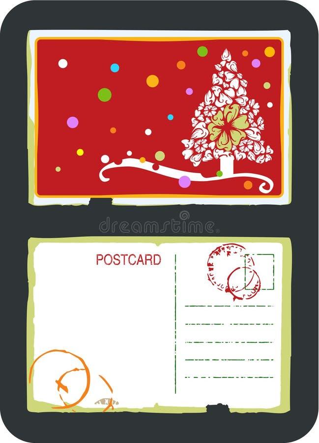Christmas tree vector postcard vector illustration