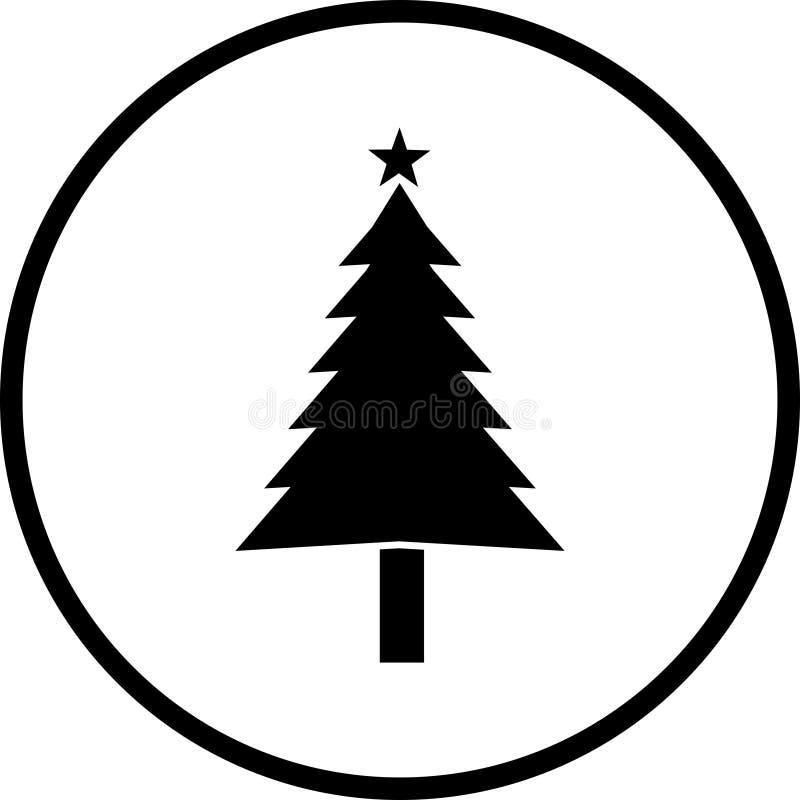 Christmas tree vector symbol stock illustration