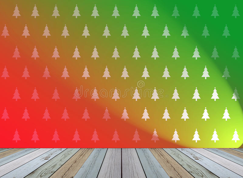 Christmas tree wallpaper for background with light royalty free illustration