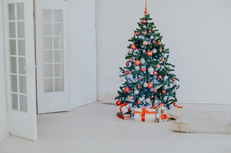 Christmas tree in the White Hall at Christmas stock photo