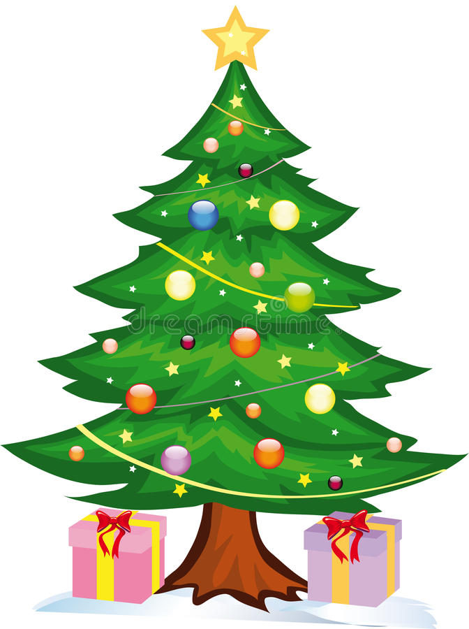 Free Christmas Tree Witch Gifts Royalty Free Stock Photos - 16967008