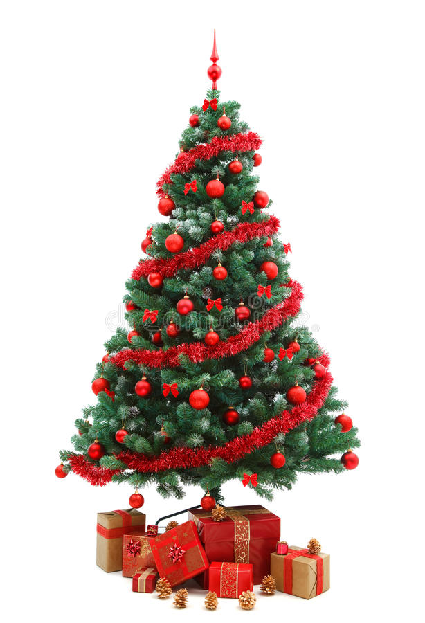 Free Christmas Tree With Gifts Royalty Free Stock Photos - 17255358