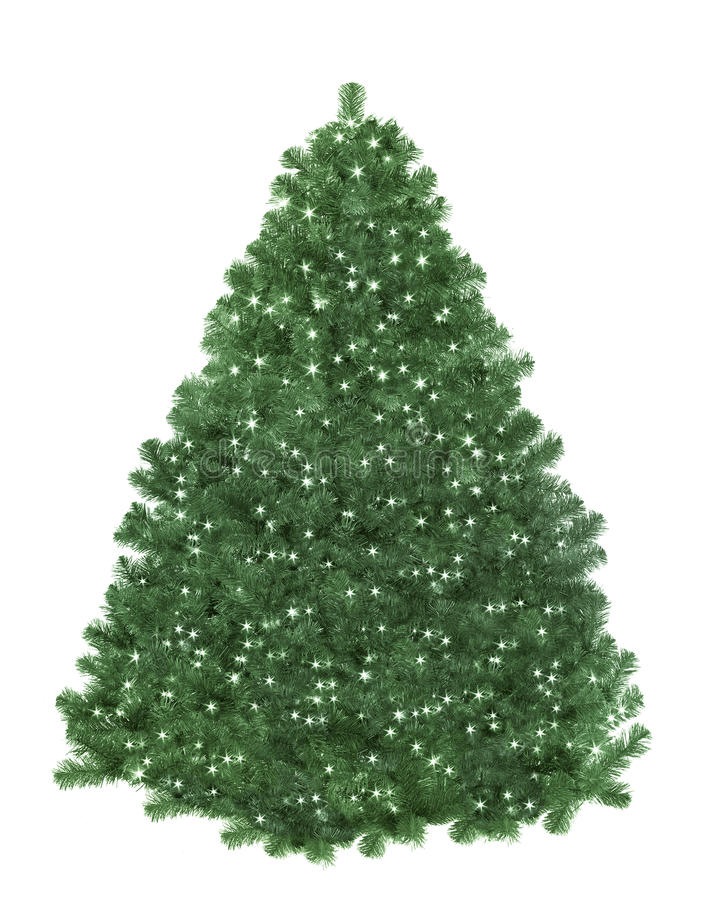 Free Christmas Tree With Star Lights Stock Photography - 44754982