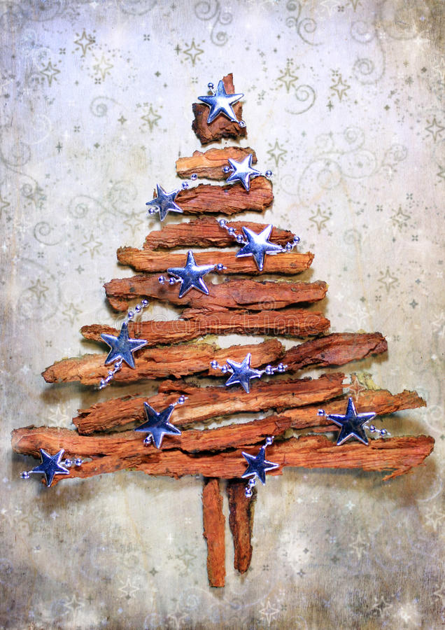 Free Christmas Tree With Stars Royalty Free Stock Photography - 46541437