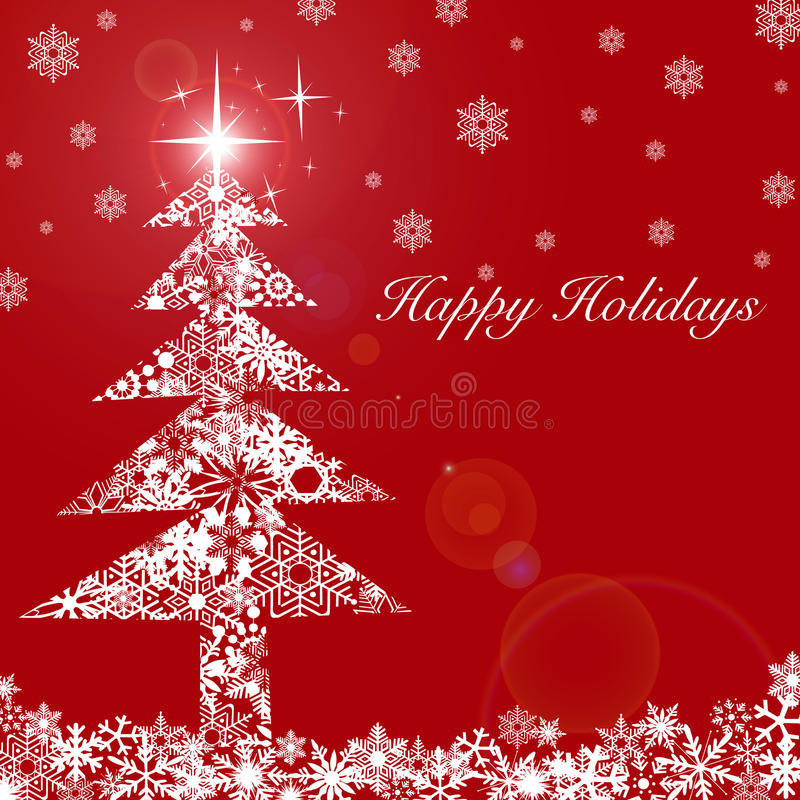 Free Christmas Tree With Stars And Snowflakes 2 Royalty Free Stock Photography - 16962297