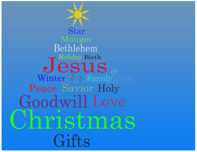 Download Christmas Tree Word Cloud Card Stock Images - Image: 21816984
