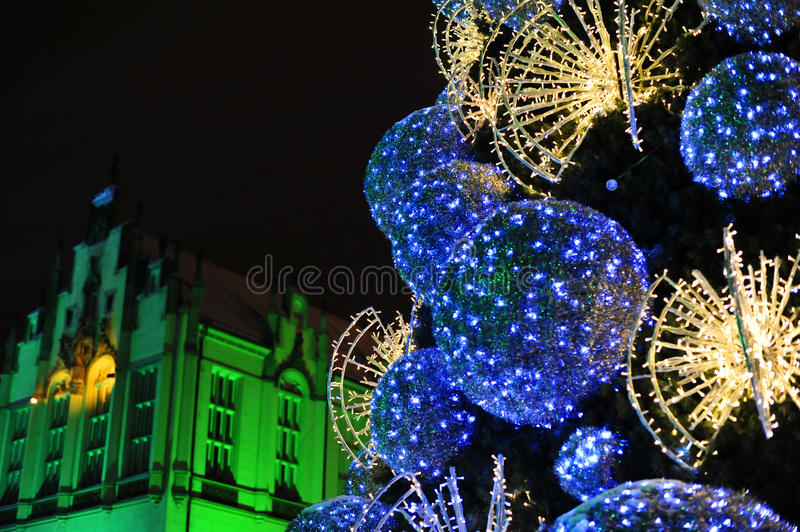 Christmas Tree In Wroclaw Royalty Free Stock Images