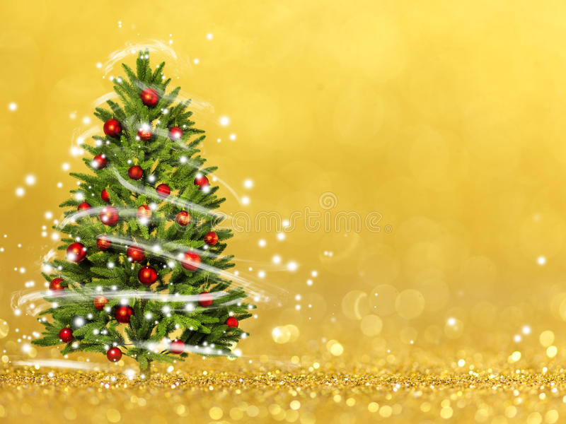 Christmas tree from the xmas lights (play with the light). Bokeh background stock images