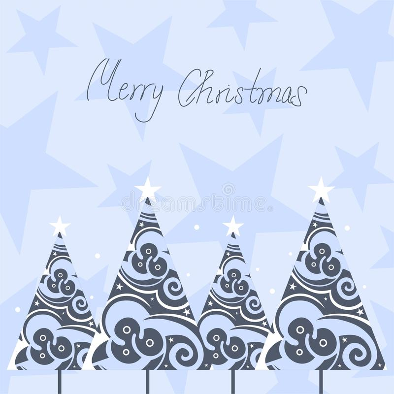 Download Christmas trees stock vector. Image of abstract, design - 11056435