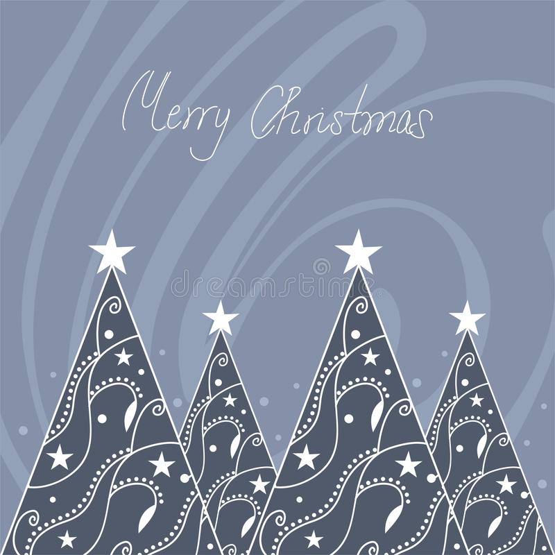 Christmas trees vector illustration