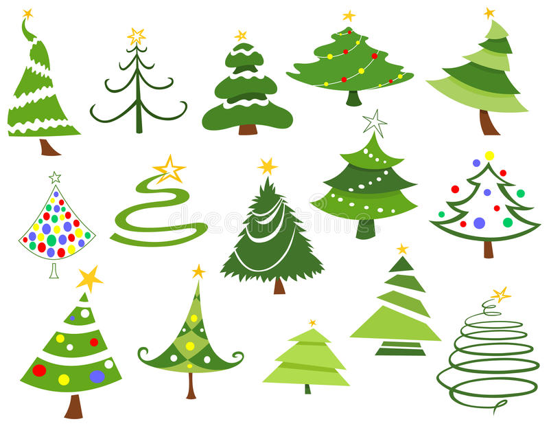 Christmas trees vector illustration