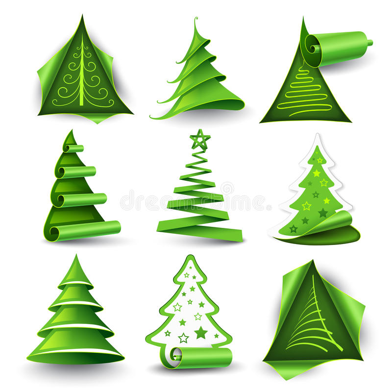 Download Christmas trees stock vector. Image of icon, paintings - 22477709