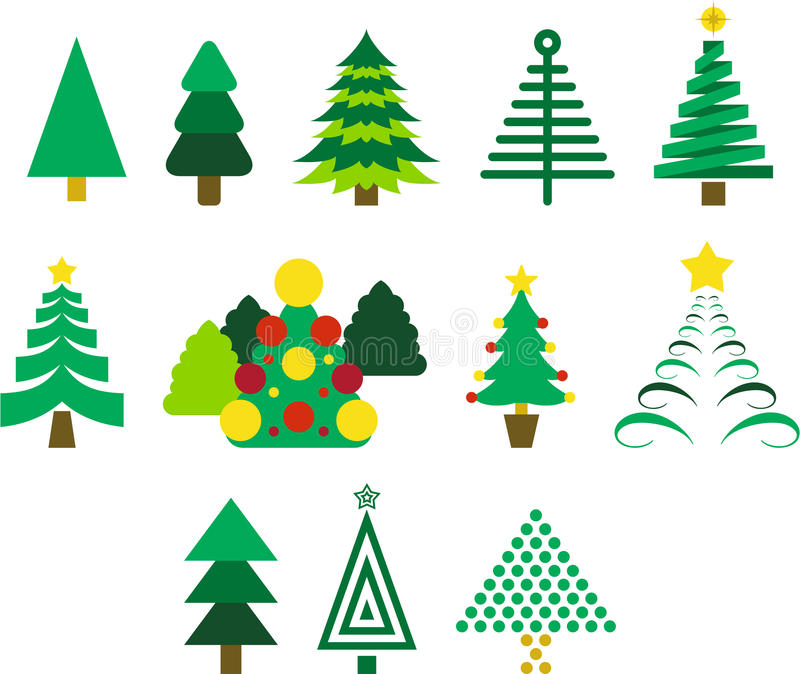 Download Christmas trees stock vector. Image of icons, yuletide - 28567382