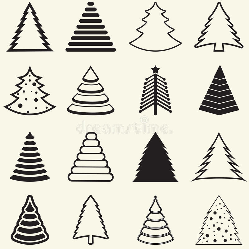 Free Christmas Trees Stock Photography - 35423292
