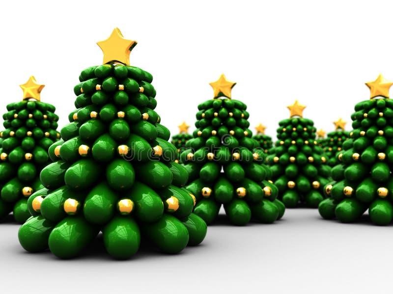 christmas trees иллюстрация вектора