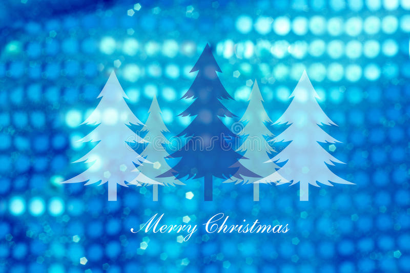 Christmas trees on abstract light background ,Christmas cards royalty free illustration