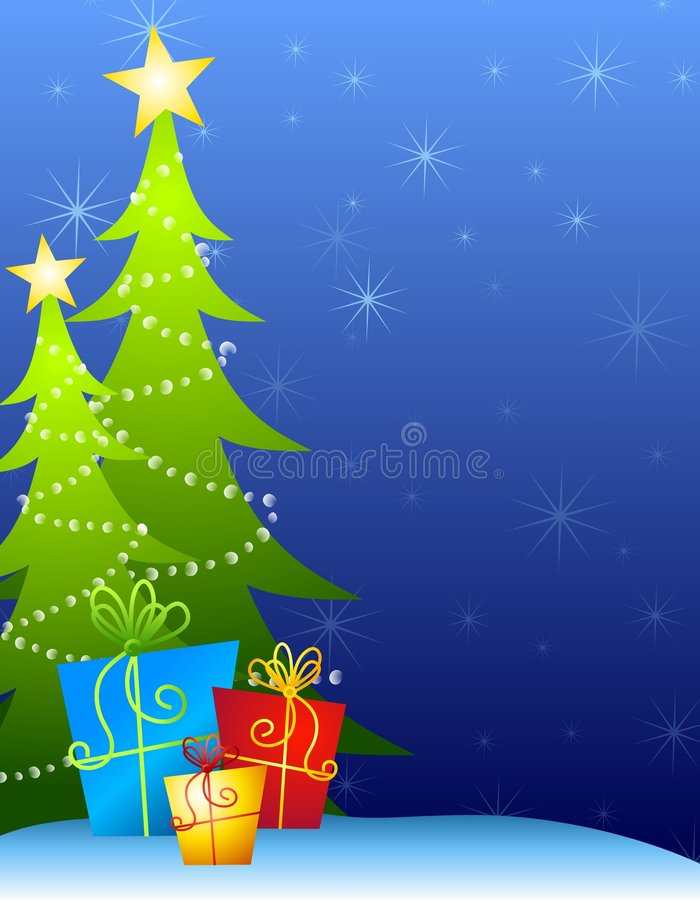 Free Christmas Trees Background Royalty Free Stock Photos - 6712598