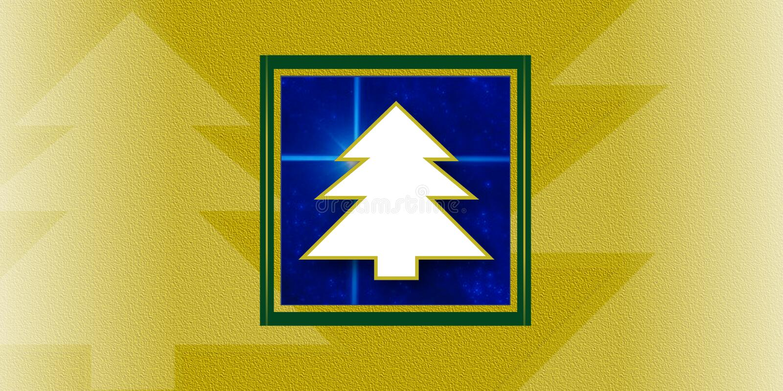 Christmas trees card stock illustration