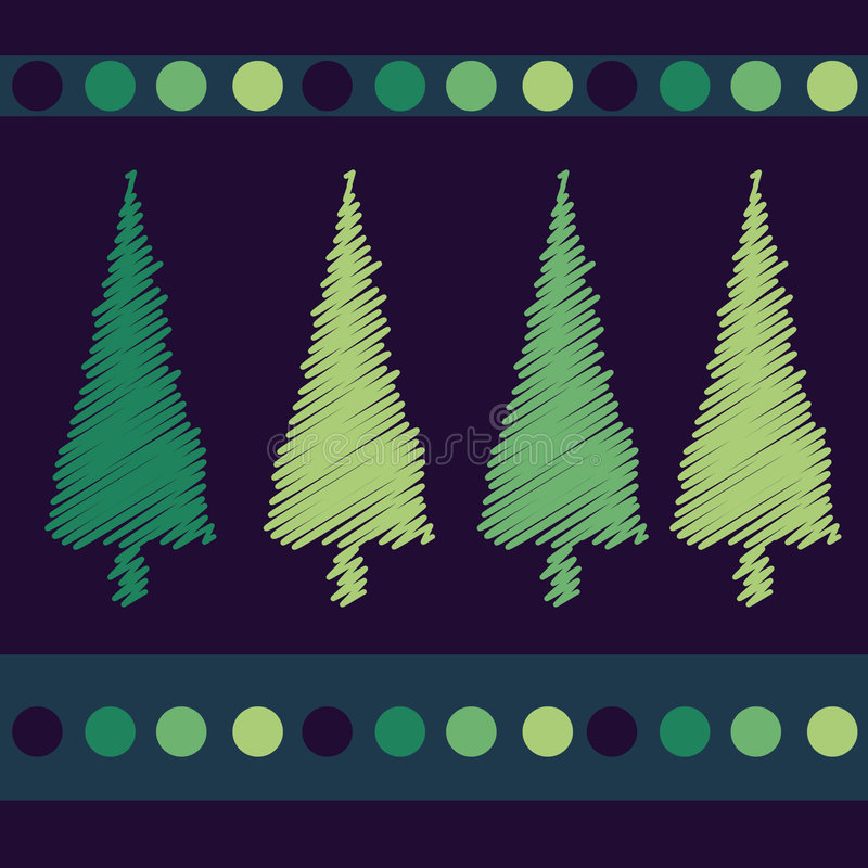 Download Christmas Trees Card Design Stock Vector - Image: 7062440