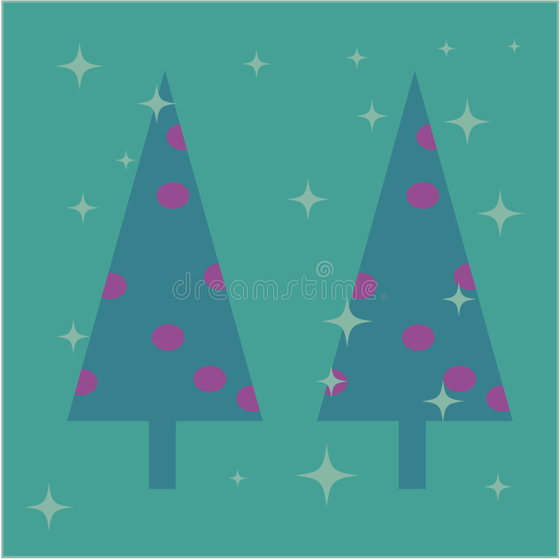 Download Christmas Trees Card Design Stock Vector - Image: 7062579