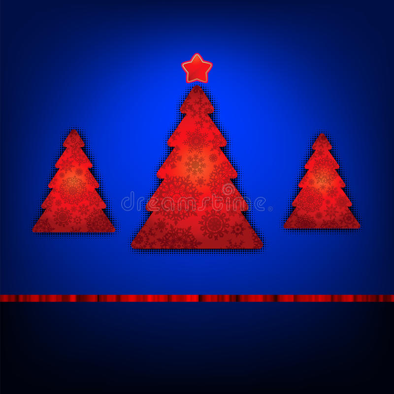 Christmas trees card template. EPS 8. Vector file included royalty free illustration