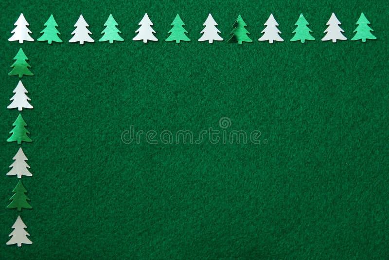 Download Christmas Trees On Felt Background Stock Image - Image: 27916761