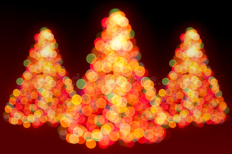 Christmas trees lights royalty free stock photos