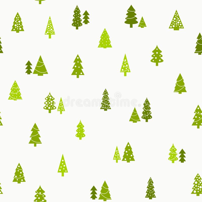 Christmas trees background vector illustration