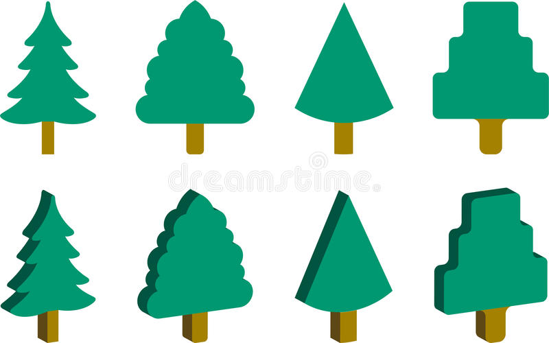Download Christmas Trees stock vector. Image of element, green - 32965980