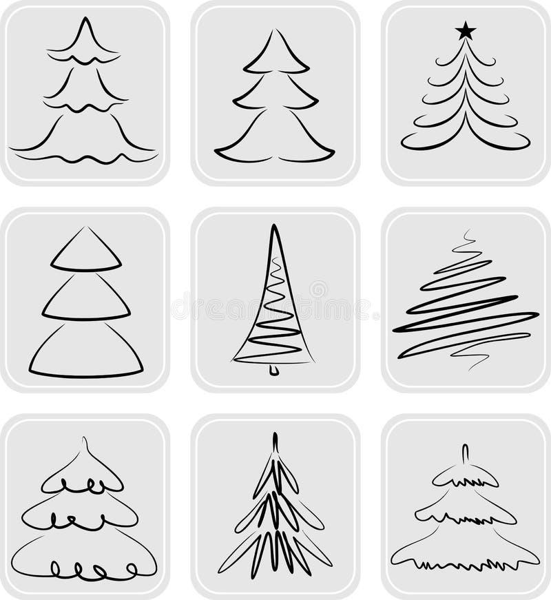 Christmas Trees Royalty Free Stock Image