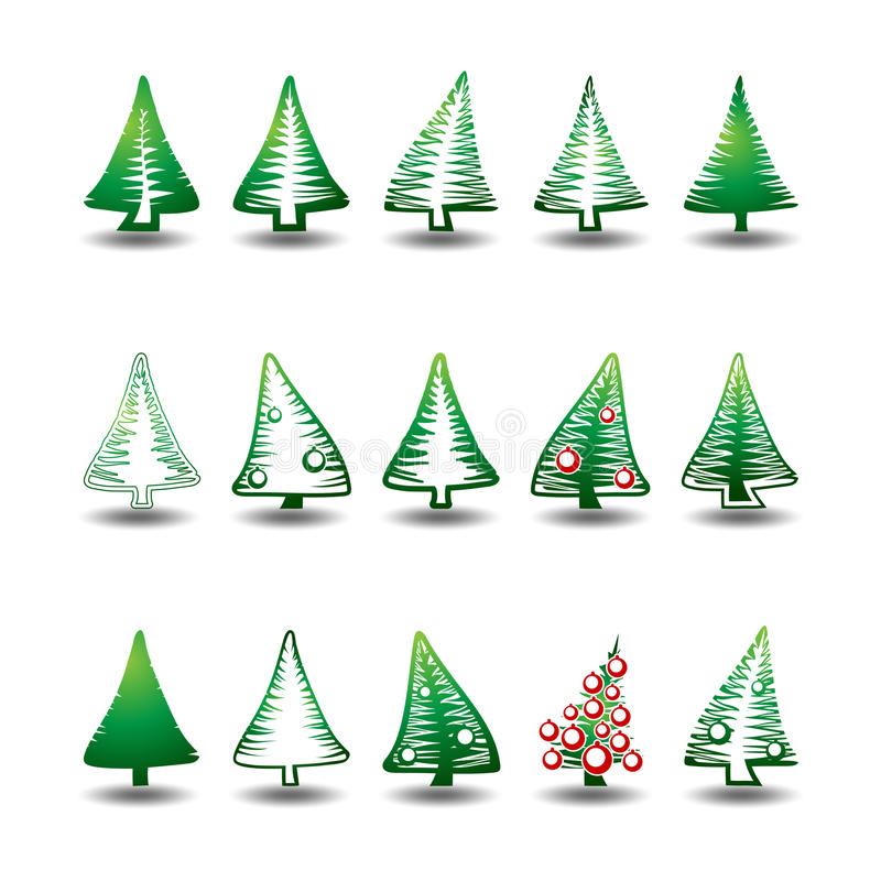 Download Christmas trees stock vector. Illustration of beautiful - 35845098