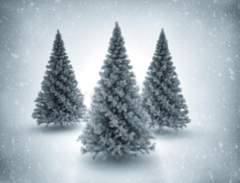 Download Christmas trees and snow stock illustration. Illustration of glitter - 34487819