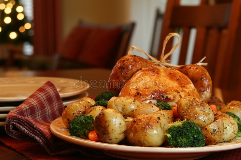 Christmas turkey stock image