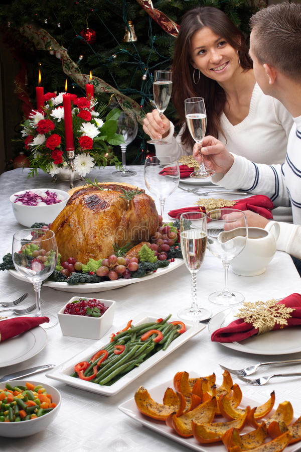 Download Christmas Turkey Dinner stock image. Image of napkins - 21690949