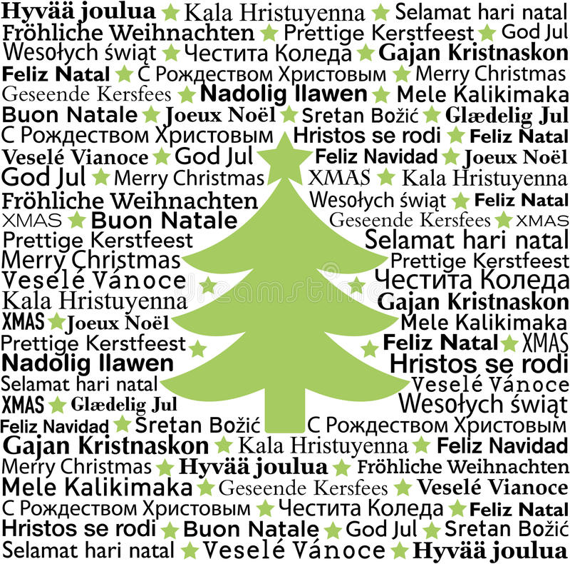 Christmas typographic background stock illustration